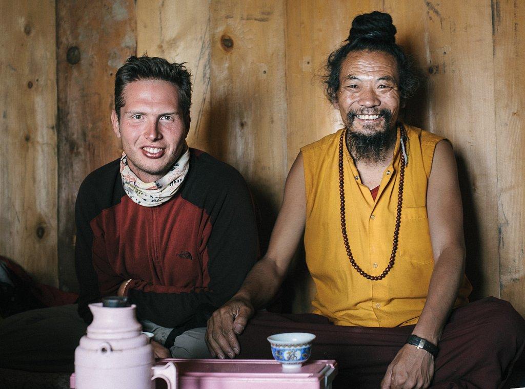 Непал. Лапчи. Встреча с в главой ритритного центра Дурдзын Лапчи Ринпоче.Август 2009г.